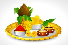 Puja Thali Stock Photo