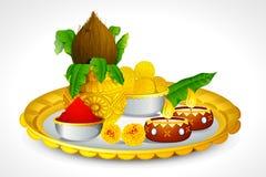 Free Puja Thali Stock Photo - 26691280