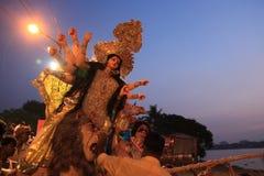 Pujafestival van Durga stock afbeeldingen