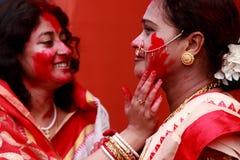 Pujafestival van Durga Stock Foto's