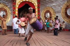 Pujafestival van Durga Stock Foto