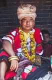 Pujari in Bhaktapur Stock Image