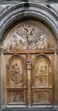 Pujili church door Royalty Free Stock Photo