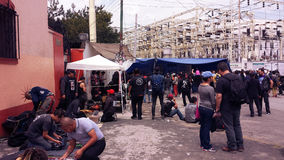 Puk和goth场面在墨西哥城在梅尔卡多del Chopo 免版税库存照片