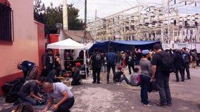 Puk y escena del goth en Ciudad de México en Mercado del Chopo Foto de archivo libre de regalías