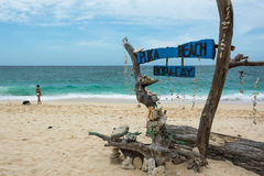 Puka Beach, Boracay, Philippines Images stock