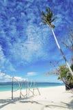 Puka beach sign in boracay island philippines Royalty Free Stock Image