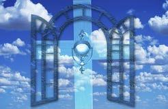 Puka? na niebach drzwiowych royalty ilustracja