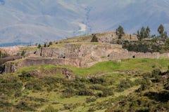 Puka Pukara印加人堡垒库斯科秘鲁 免版税库存照片