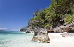 Puka Shell Beach Boracay ö Arkivfoto