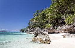 Puka Shell Beach. Boracay island Stock Photo