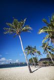 Puka strand i det tropiska paradiset boracay philippines Arkivbild