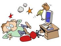 pukający pukać komputerowy facet ilustracji