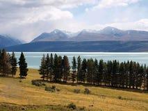 Pukaki lake Royalty Free Stock Photo
