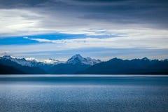 Pukaki lake, Mount Cook, New Zealand. Pukaki lake at sunset, Mount Cook, New Zealand Stock Photography