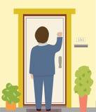 pukanie do drzwi ilustracja wektor