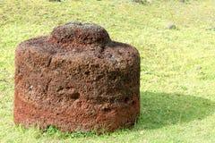 Pukao sur l'île de Pâques Images stock