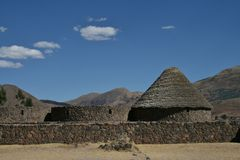 Pukara. Pre-incan ruins at the Pukara archaelogical site in Peru Royalty Free Stock Photography