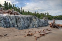 Pukaskwa National Park is on the Shores of Lake Superior in Northern Ontario, Canada stock photography