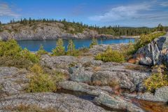 Pukaskwa National Park is on the Shores of Lake Superior in Northern Ontario, Canada.  royalty free stock photography