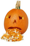 Puking pumpkin Stock Photography