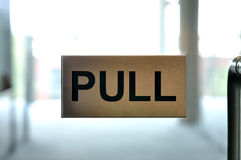 Pul sign Stock Image