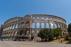 Pula τον Ιούλιο του 2011: Χώρος Pula, αρχαίο ρωμαϊκό αμφιθέατρο Κροατία στοκ εικόνες