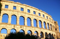 Pula χώρος - ρωμαϊκό αμφιθέατρο ` s Στοκ φωτογραφία με δικαίωμα ελεύθερης χρήσης