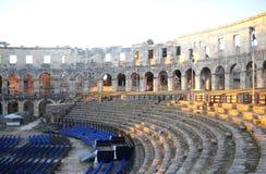 Pula χώρος - ρωμαϊκό αμφιθέατρο ` s Στοκ Φωτογραφία