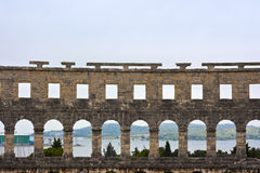 pula гавани амфитеатра Стоковое Фото