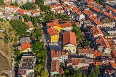 Pula aerial, Croatia Royalty Free Stock Photo