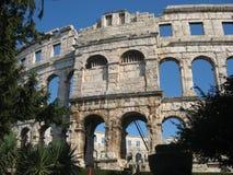 Pula amfitheater Stock Foto