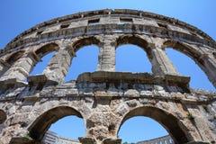 Pula Amphitheatre stockfotografie