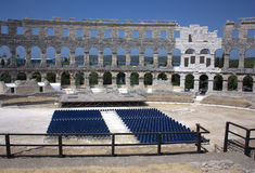 Pula - The Arena. Internal view of the arena Royalty Free Stock Images