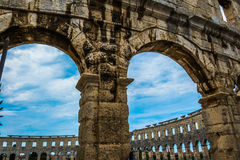 The Pula Arena  amphitheatre Royalty Free Stock Images