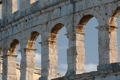 Pula Arena Detail Royalty Free Stock Images