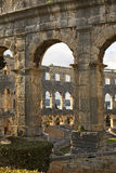 Pula Arena - Roman amphitheatre and Church of St. Antun. Croatia Royalty Free Stock Photography