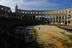 Pula Colosseum Stock Photo