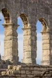 Pula, Croácia - anfiteatro romano - detalhe foto de stock royalty free