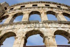 Pula, Croácia - anfiteatro romano - detalhe foto de stock