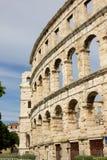 Pula, Croácia - anfiteatro romano - detalhe fotos de stock