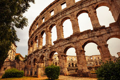Pula, Croatia. Ancient arena in Pula, Croatia Royalty Free Stock Photo