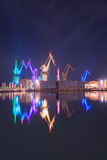 Pula, Croatie, la nuit Photos libres de droits