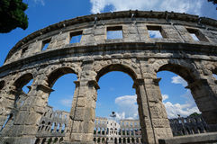 Pula de la Croatie d'amphitheatre romains Image libre de droits