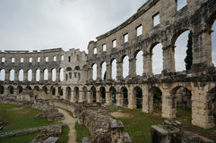 Pula de la Croatie d'amphitheatre romains Photo libre de droits
