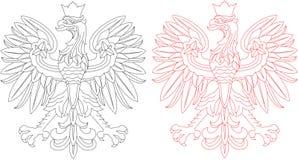 Pula el emblema del águila Stock de ilustración
