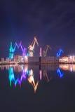 Pula, Kroatië, bij nacht Royalty-vrije Stock Foto's