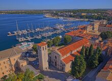 Pula Panorama With Cathedral Of The Assumption Stock Photos