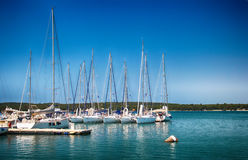 Pula- port. Pula Port is located in the Istria, the largest city in Croatia. The Pula port of call is strategically located within the bay of the panoramic royalty free stock images