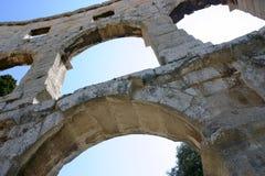 Pula Roman Amphitheater Croatia Stockfotografie